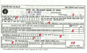 deposit form fill up  How to fill State Bank of India (SBI) Deposit/Withdrawal ...