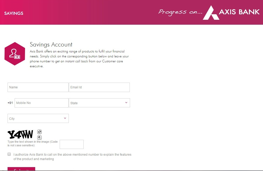 how to create axis bank online account