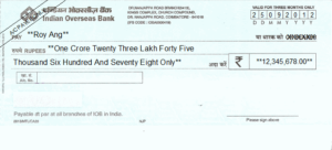 How to Fill Indian Overseas Bank (IOB) Cheque-Learn Here in Easy Steps