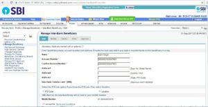 how to add neft beneficiary in corporation bank