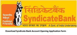 Download Syndicate Bank Account Opening Application Form