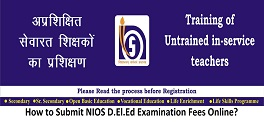 How to Submit NIOS D.El.Ed Examination Fees Online?