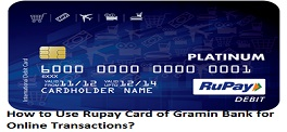 How to Use Rupay Card of Gramin Bank for Online Transactions?