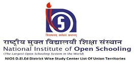 NIOS D.El.Ed District Wise Study Center List of Union Territories