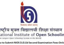 How to Submit NIOS D.El.Ed Second Examination Fees Online?
