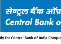 How to Fill & Apply for Central Bank of India Cheque Book Request?