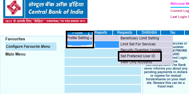 what is transaction password in central bank of india net banking