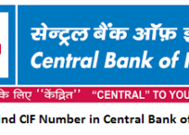 How to Find CIF Number in Central Bank of India?