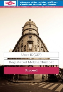 "Enter User ID (CIF Number), registered mobile number and click on ""Proceed"""