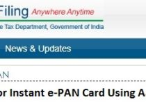 How to Apply for Instant e-PAN Card Using Aadhaar Online?