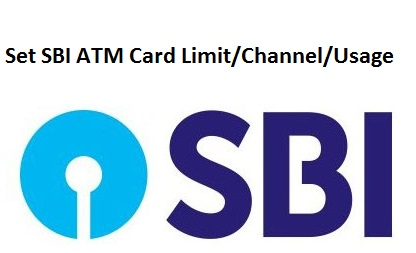 Set SBI ATM Card Limit/Channel/Usage