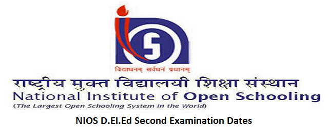 NIOS D.El.Ed Second Examination Dates