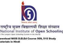 Download NIOS D.El.Ed Course 509, 510 Study Materials in Hindi
