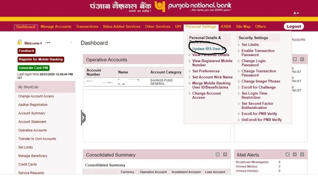 pnb net banking new users